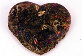 Mini brique à thé Coeur pétales de rose