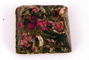 Mini brique à thé boutons de rose